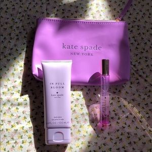 NEW Kate spade roller ball & lotion. In full bloom